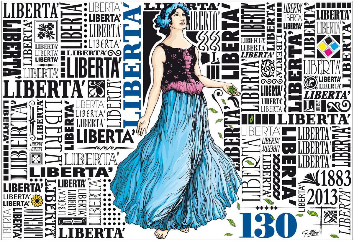 primavera - Opera di Giorgio Millani per i 130 anni di Libertà