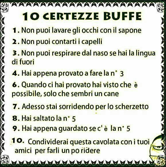 10 Certezze...